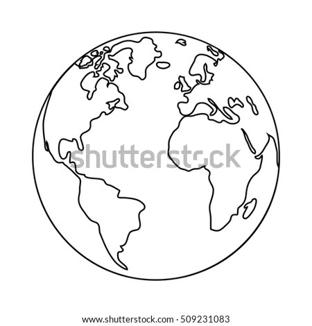 World Planet Earth Isolated Icon Vector Stock Vector