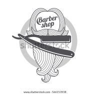 barber logo templates hair