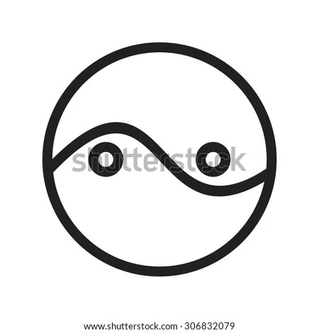 Two Circles Diagram Icon Vector Image Stock Vector