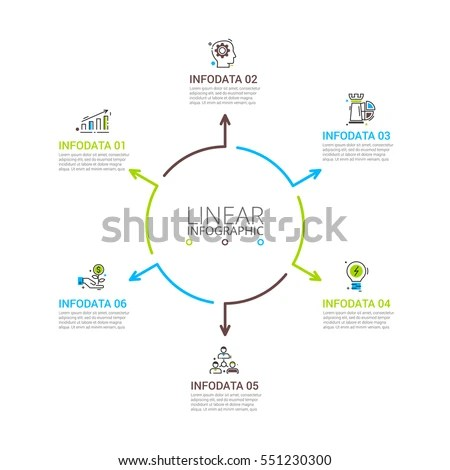 Vector Infographic Design Template Business Concept Stock