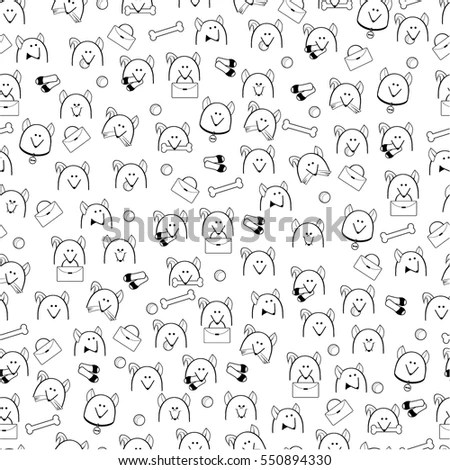 Flat Line Colorful Icons Collection Human Stock Vector