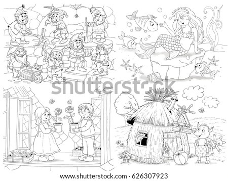 Snow White Dwarfs Stock Images, Royalty-Free Images