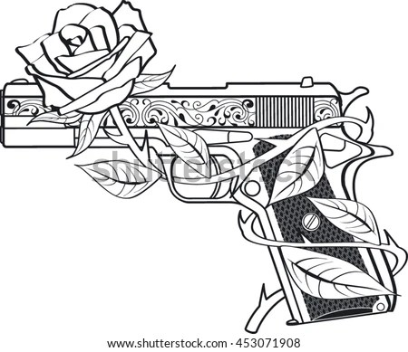 Guns And Roses Stock Images, Royalty-Free Images & Vectors
