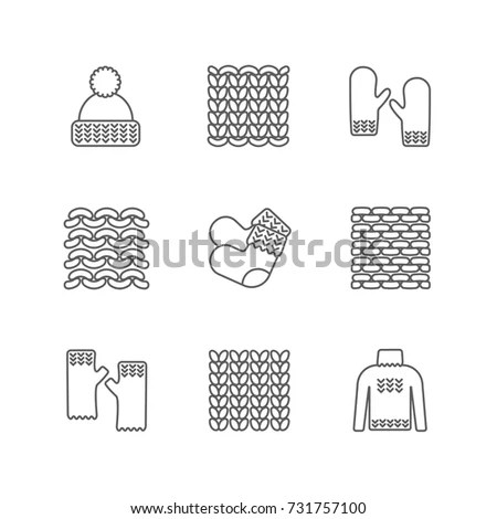 Knitting Reverse Side Vector Pattern Knitted เวกเตอร์สต็อก