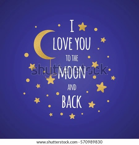 Download Love You Moon Back Romantic Vector Stock Vector 570989830 ...
