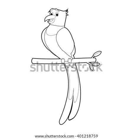 Easy Coloring Drawings Animals Little Kids Stock Vector