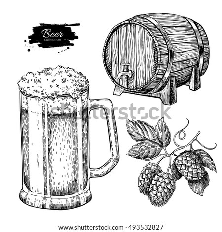 Drawing Beer Stock Images, Royalty-Free Images & Vectors