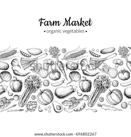 Vegetables Drawing Stock Images, Royalty-Free Images
