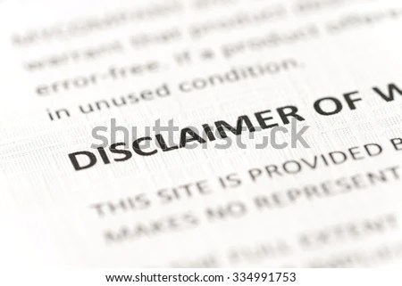 Disclaimer Stock Images, Royalty-Free Images & Vectors