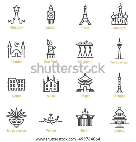 Landmark Icons Stock Images, Royalty-Free Images & Vectors