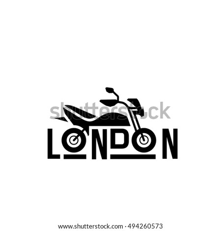 Bike Club Brand Identity London Bike Stock Vector