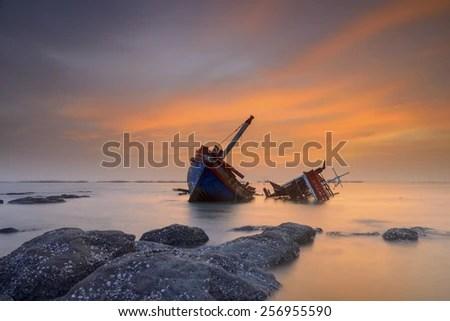 shipwreck stock