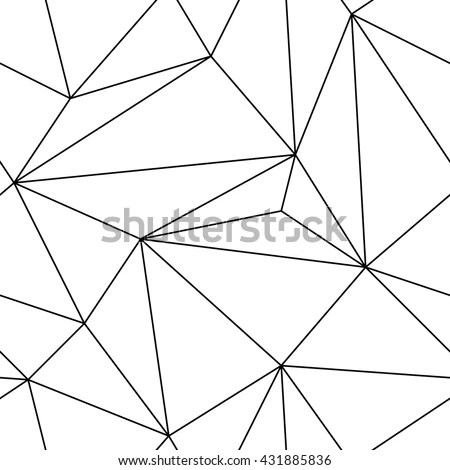 Simple Geometric Black White Seamless Triangle Stock