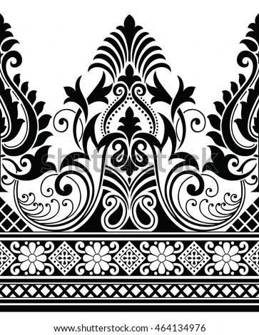 Peacock Hd Wallpaper Download Paisley Indian Motif Stock Vector 464134976 Shutterstock