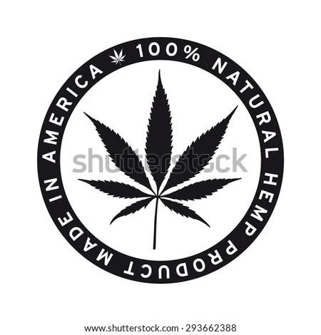 Natural Hemp Product Made America Vector Stock Vector