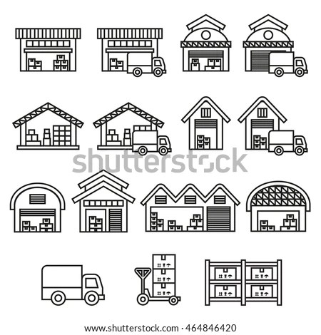 Warehouse Icon Stock Images, Royalty-Free Images & Vectors