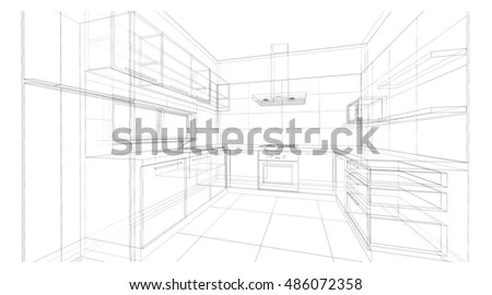 Kitchen Sketch Stock Images, Royalty-Free Images & Vectors