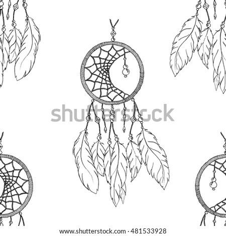 Dream Catcher Arrow Tribal Legend Indian Stock Vector