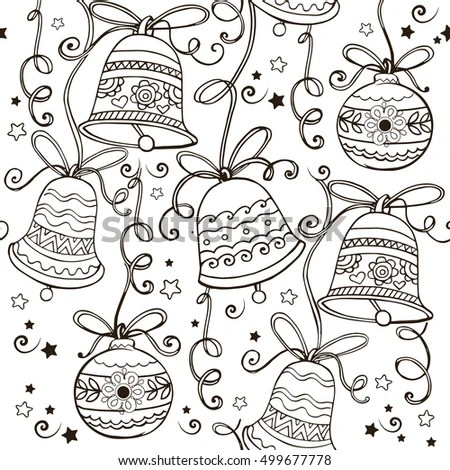 Laser Cut Paper Christmas Bell Christmas Stock Vector