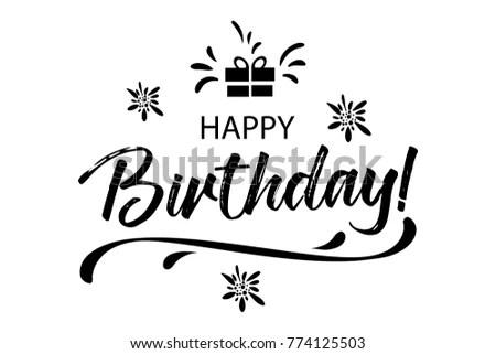 Happy Birthday Card Beautiful Greeting Banner Stock Vector