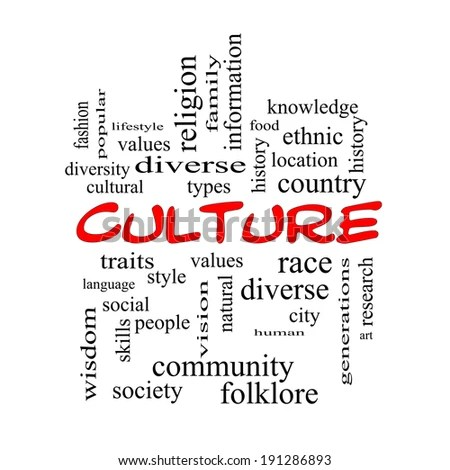 Culture Word Cloud Concept Red Caps Stock Illustration