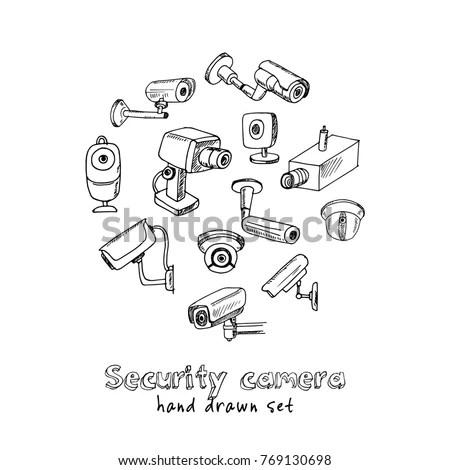 Set Objects Symbols On Cinema Theme Stock Vector 395187619
