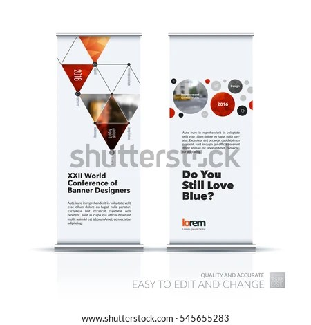 Abstract Business Vector Set Modern Roll Stock Vector