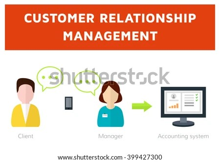 Customer Relationship Management Flat Vector Illustration Stock Vector 404745373  Shutterstock