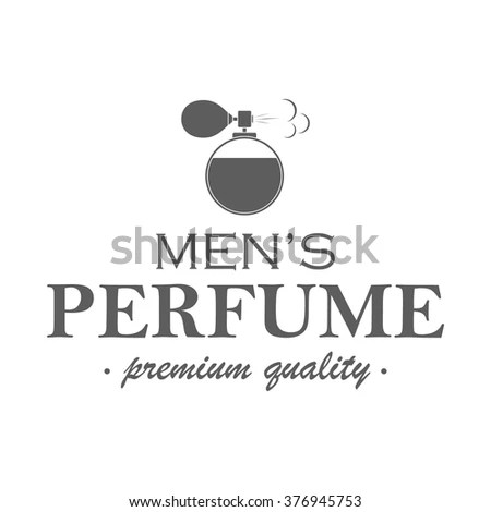 Mens Perfume Logotype Template Isolated Label Stock Vector