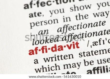 Affidavit Stock Images, Royalty-Free Images & Vectors
