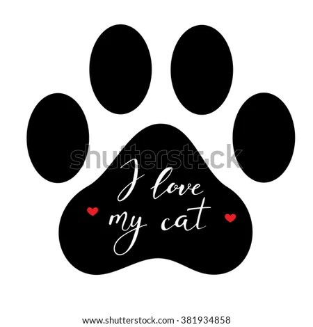 Download Black Head Cat Hand Lettering Word Stock Vector 445433788 ...