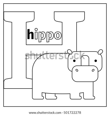 Hippo Outline Stock Photos, Royalty-Free Images & Vectors