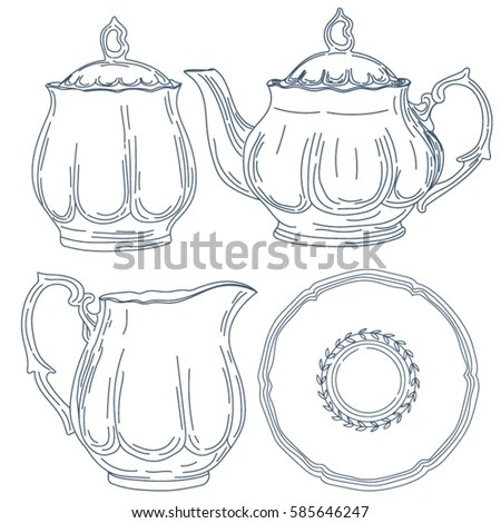Vintage Teapot Stock Images, Royalty-Free Images & Vectors