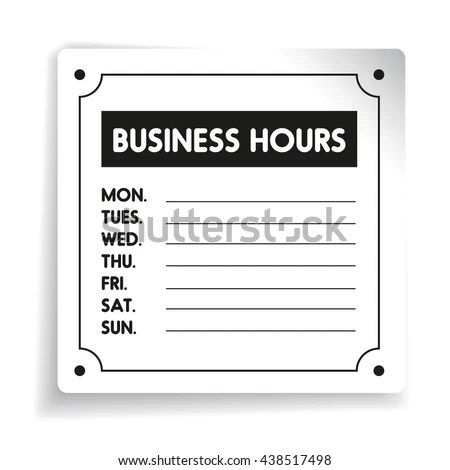 Business Hours Sign Template Word 28 Images Office