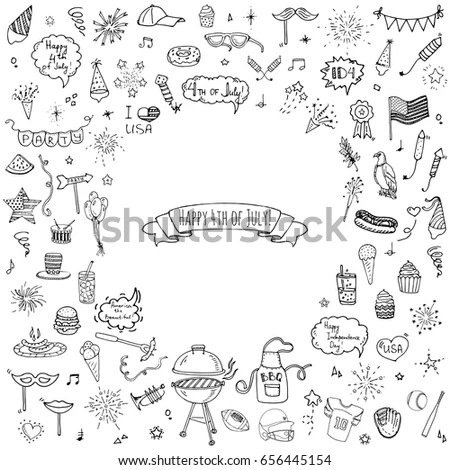 Hand Drawn Doodle Donation Icons Set Stock Vector