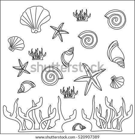 Concept Under Sea On White Background Stock Vector