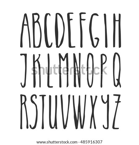 Hand Lettering Alphabet Stock Images, Royalty-Free Images