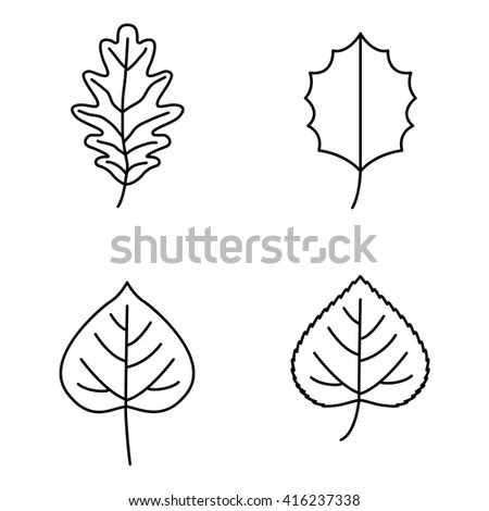 Leaf Outline Stock Photos, Royalty-Free Images & Vectors