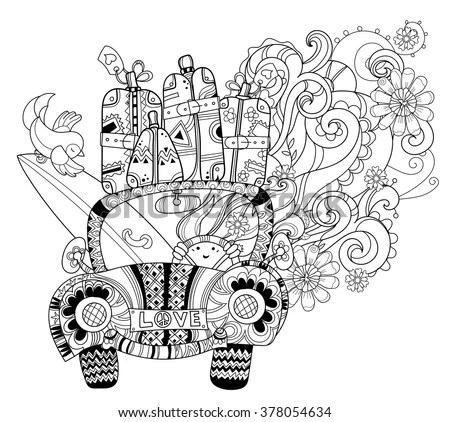 Sketch Chrysler 300c Coloring Pages