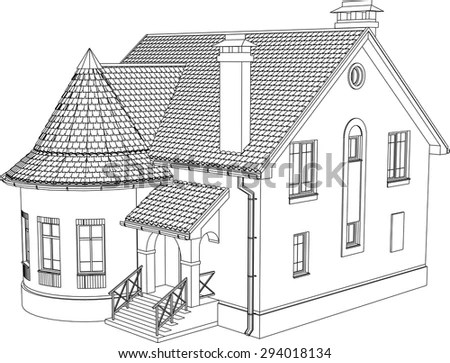 Wireframe Drawings Stock Images, Royalty-Free Images