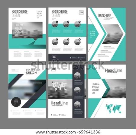 Six Flyer Marketing Templates Photo Text Stock Vector 659641336 ...