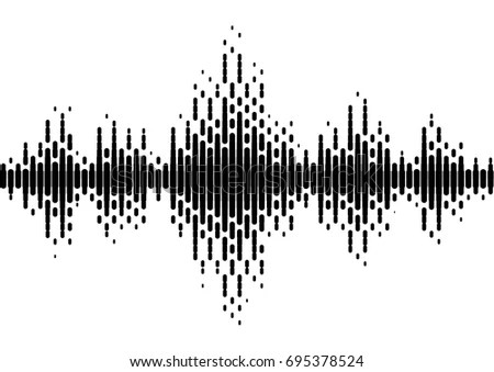Equalizer Music Sound Wave Vector Symbol Stock Vector