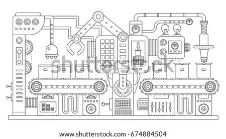 Hand Tools Construction Repair Located Inside Stock Vector