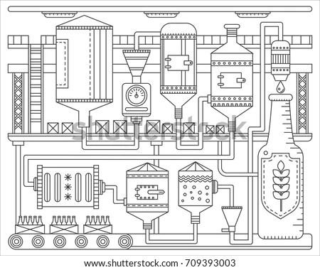 Brewery Infographics Stock Images, Royalty-Free Images