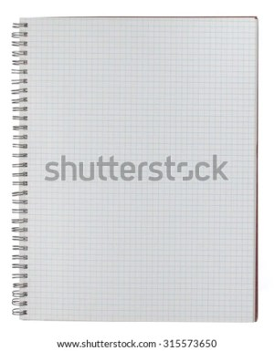 An open spiralbound notebook with graph paper sheets