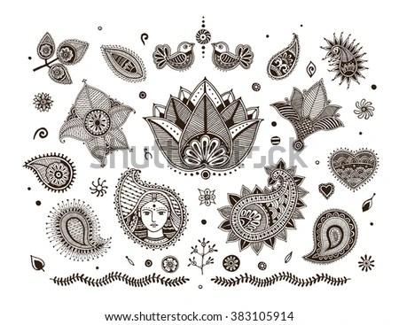 Mehndi Stock Photos, Royalty-Free Images & Vectors