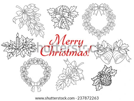 Holly Wreath Stock Images, Royalty-Free Images & Vectors