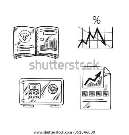 Vector Illustration Banking Investment Concept Central
