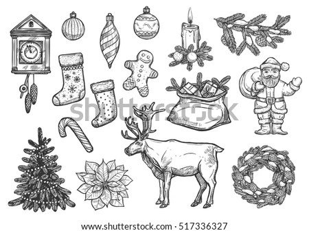 Christmas Tree Sketch Stock Images, Royalty-Free Images