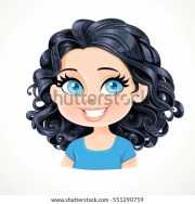 beautiful brunette girl short black